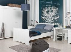 Stijlvolle slaapkamer voor tieners.