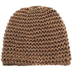 Rag & Bone Metallic beanie hat ($188) ❤ liked on Polyvore