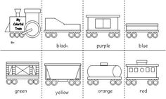 freight train, train color, train printables, letter, coloring books