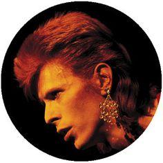 David Bowie Profile Pin