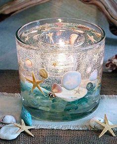 Seashell Candles, Gel Candles, Seashell Crafts, Beach Crafts, Unique Candles, Custom Candles, Candle Craft, Decoration Table, Tea Light Holder