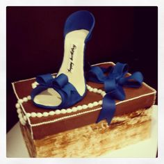 Yes, it's a birthday cake!! Complete with a sugar shoe. Photo by Sugar Flower Cake Shop. www.sugarflowercakeshop.com