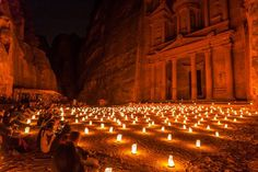 Petra at Night Photo by Raymond Choo — National Geographic Your Shot