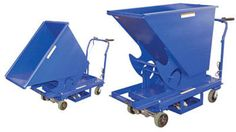 Portable Steel Hopper with Power Traction Drive. Reduce worker fatigue and injury with this 1/3 cubic yard Power Traction Drive Hopper. This factory installed option makes portable equipment easy to maneuver with its 240° turning radius, handle grip/throttle and auto reverse.