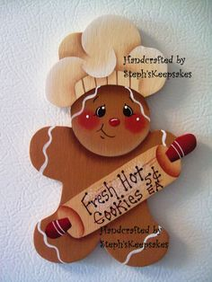 Handpainted Gingerbread Fridge Magnet, Kitchen Decor,Gingerbread Collector,Home Decor
