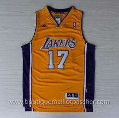maillot nba pas cher Los Angeles Lakers Lin #17 Jaune nouveaux tissu 22,99€
