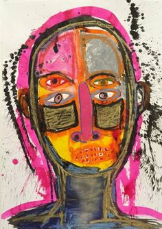 """Saatchi Art Artist BJ BROEKHUIZEN; Drawing, """"Pink Nose"""" #art"""