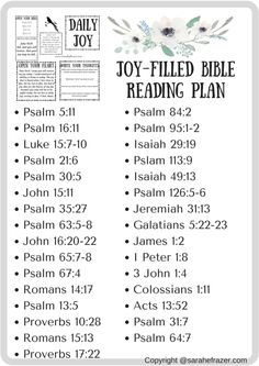 A Joy-Filled Reading Plan - Sarah E. Frazer
