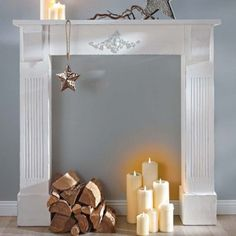 Weihnachtsdeko: Kaminumrandung U0026 Adventskranz Aus Beton | Pinterest | Gold  Interior, Black White Gold And Decoration