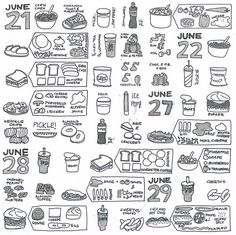 I'd like to use this approach to visual journaling, but not for food, not sure what for yet...