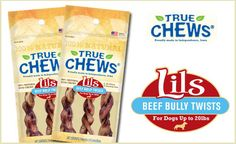 Two bags of Lils Beef Bully Twists for 55% OFF