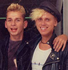 Depeche Mode: Dave Gahan + Martin Gore :)