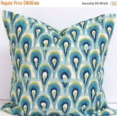PILLOW SALE Pillow cover. 18x18. Designer by TwistedBobbinDesigns