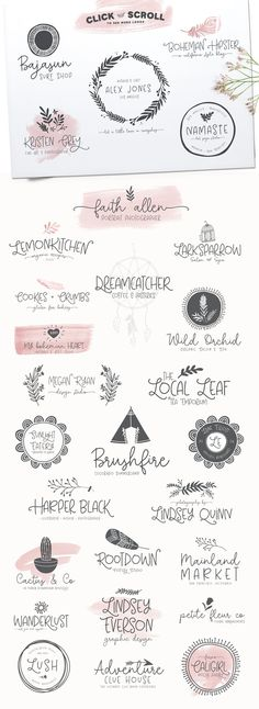 Among The Wildflowers | Font Duo by Callie Hegstrom on @creativemarket #font #doodle #romantic #logo #labeldesign