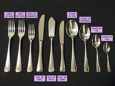 Dicas de etiqueta à mesa Dinning Etiquette, Table Setting Etiquette, Table Settings, White Dinner, Etiquette And Manners, Table Manners, House Of Beauty, Table Set Up, Napkin Folding