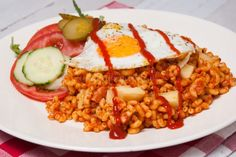 Macaroni met ham en tomatenpuree Spatzle, Good Food, Yummy Food, Pesto Pasta, Recipe Of The Day, Fried Rice, Food For Thought, Ham, Risotto