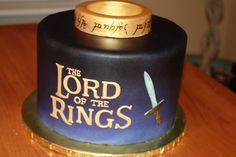The Good Apple: Lord of the Rings Cake. The ring says Happy Birthday in Elvish.