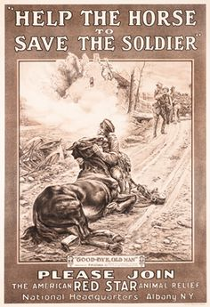 "Matania, F. ""Help the Horse to Save the Soldier - American Red Star Animal Relief,"" 1917"