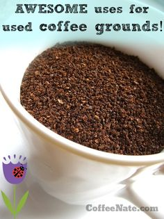 Awesome gardening tips using spent #coffee grounds!