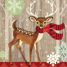 Woodland Deer Wood by Jennifer Brinley | Ruth Levison Design