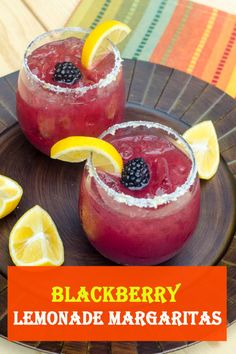Blackberry Lemonade Margaritas This tart and lightly sweet cocktail has a fresh berry flavor and vibrant color. The perfect drink to serve while blackberries are at their peak. Easy To Make Appetizers, Best Appetizer Recipes, Easy Delicious Recipes, Best Appetizers, Simple Recipes, Meal Recipes, Vegetarian Recipes, Cooking Recipes, Yummy Food