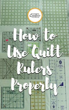 How To Use Quilt Rulers Properly . quilting rulers come in all different sizes & shapes. Learn how to use them properly by explaining what all of the different hash lines on them are for as well as the diagonal lines . Quilting 101, Quilting Rulers, Quilting For Beginners, Quilting Tutorials, Quilting Projects, Sewing Projects, Quilting Ideas, Quilt Binding, Beginner Quilting