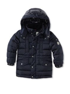 OFF Moncler Kid's Classic Insulated Jacket with Hood
