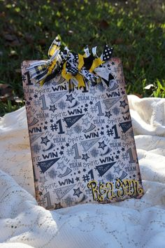 Spirited Clipboard (Etsy) idea for coach gift