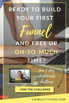 So you're ready to free up oh-so-much time & set up your first funnel, right? Clickfunnels is perfect - and I have a FREE 5 day challenge for you! Join the challenge here!