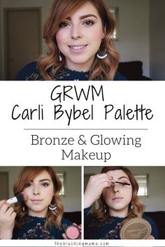 Today I'm sharing with you a makeup look using Carli Bybel's BH Cosmetics palette. This was the first time I used it, and I have used it quite a bit since…let me just say that as bronze-coppery-natural-glowing-makeup lover…this palette is a must have! Simple bronzy eye and highlighted face. Fresh makeup look for fall.