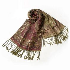 Pa-604-3 Paisley & Flower Mix-pattern Revitalized Style Luxurious Silky Soft Pashmina/Shawl/Scarves Blancho Pashmina. $14.99. Chic & distinctive pattern, a sense of fashion and elegant, fringed at both ends of the pashmina. Pashmina measures 68 by 27 inches with 5 inches tassel, contains 55% pashmina and 45% silk. Like an aesthetic art,it is a perfect and suitable accessory with any outfit. High-quality material, it is a best gift for women. Lightweight, luxurious silky so...