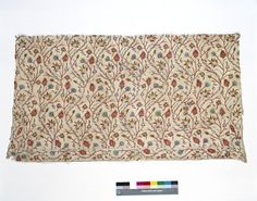Cover @ V, made 17C. Silk on Linen in imitation of woven silks