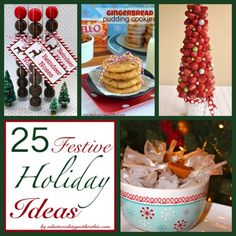 25 Festive Holiday Ideas!!  Crafts and Recipe round-up to inspire you this season by whatscookingwithruthie.com #recipes #crafts #holidays