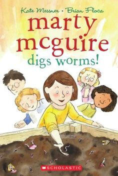 Post by author Kate Messner about her book Marty McGuire digs worms. Love this series! Perfect for read aloud and reading! Book Club Books, Book Lists, Book Series, The Book, Books To Read, Kid Books, Book Clubs, Mighty Girl Books, List Of Authors