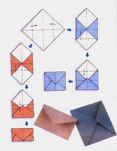 27 Pretty Picture of Envelope Origami Diy . Envelope Origami Diy Pics To Help Make Envelopes Origami Diy Origami, Origami Tutorial, Origami Paper, Origami Bag, Origami Design, Diy Envelope Tutorial, Oragami, Diy Paper, Paper Crafts