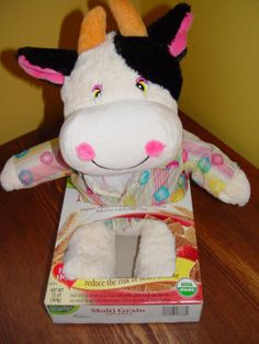 Have fun with sliding stuffed animals in a cereal box back and forth! toddler game