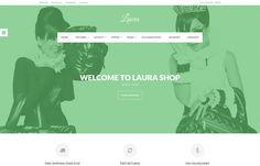 Laura - #Joomla #Template #clean minimalist #flat design, comes with custom overrides for #Hikashop and #Mijoshop Joomla Shopping Carts.