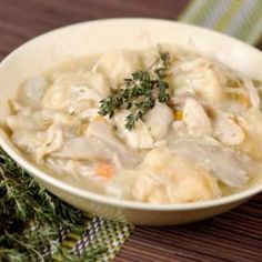 This recipe for Prep Chicken and Dumplings is a recipe for slow cooker chicken and dumplings that couldn't be easier! Cream of chicken soup and butter make the sauce extra creamy. Packed refrigerator biscuits make for easy dumplings. Crock Pot Recipes, Chicken Recipes, Cooking Recipes, Easy Recipes, Turkey Recipes, Healthy Cooking, Healthy Soups, Crockpot Dishes, Cooking Games
