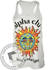 Alpha Chi Omega Sun Tank by Adam Block Design