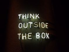 Think Outside the Box | Free Spirit | Neon Lights | Quote | Typography | Light Up Word Art Sign
