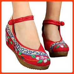 Old Beijing Cloth Embroidered Shoes Casual red 40 ( Partner Link) c82fafa17