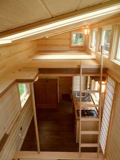 The Tiny Tea House Cottage from the Oregon Cottage Company. The 225 sq ft home was designed to be reminicint of a traditional Japanese tea house. Tyni House, Tiny House Cabin, Tiny House Living, Tiny House Plans, Tiny House Design, Tiny House On Wheels, Loft Design, House Bath, Cottage House