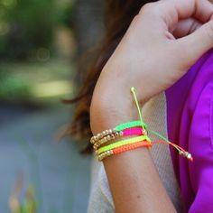 neon wrap bracelets