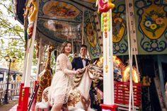 Vintage merry-go-round wedding portrait Merry Go Round, Wedding Portraits, Fair Grounds, Blog, Photography, Vintage, Photograph, Blogging, Photo Shoot