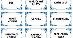 Etikety na kořenky ke stažení zdarma    Galerie etiket na kořenky ke stažení zde! Sheet Music, Math Equations