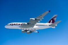 #QatarAirways will operate the first #QatarA380 to London @HeathrowAirport. #avgeek #aviation #travel #UK pic.twitter.com/Y09HJAZrMs