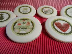 FotoPastel: Medallones de chocolate blanco decorados con el pr...
