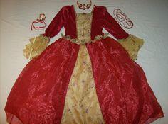 Disney Princess Belle Red costume Deluxe – Littleprincessstudio