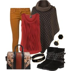 """Poncho to Governor's Plaza"" by jodilambdin on Polyvore"