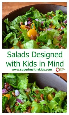 Salads Designed with Kids in Mind. Here's a salad your kids may just be ASKING to eat! www.superhealthykids.com/salads-designed-kids-mind